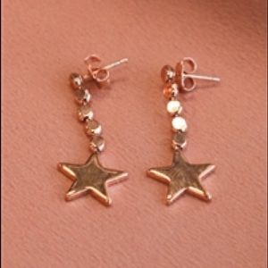 Gold Dangly Star Earrings
